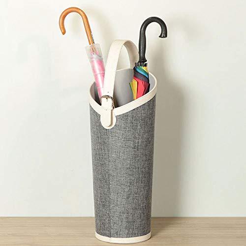 JIAJU Umbrella Cubo de Cuero Europeo hogar Cue Raqueta Dibujo Eje de Almacenamiento Creativo arreglo de Flores Soporte del Paraguas