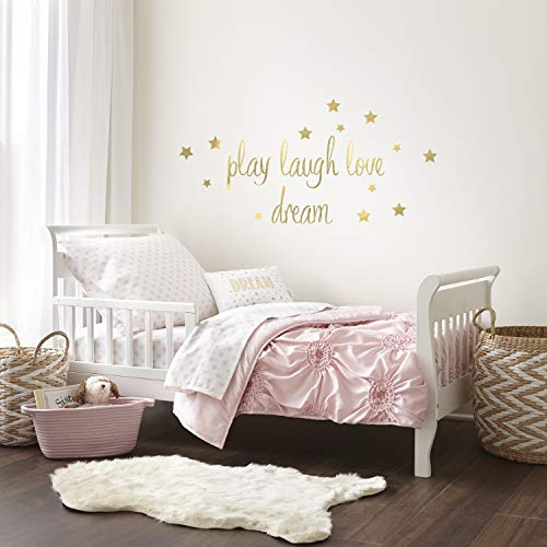Levtex Home Baby Willow 5 Piece Toddler Bedding Set, Pink