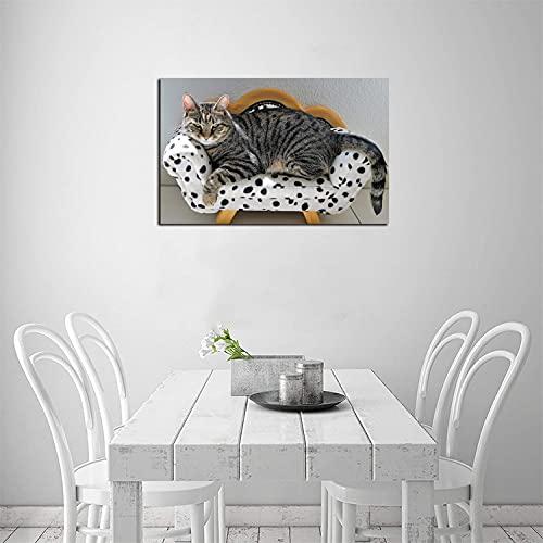 ZHOUHAOMAOYI Lienzo para pared, diseño de tigre dálmatas, bonito salón y dormitorio,...