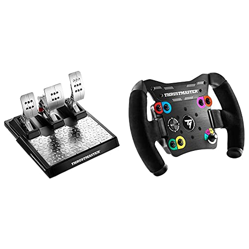 """Thrustmaster TM Open Wheel AddOn (Volante AddOn, PS4 / Xbox One / PC) + Thrustmaster T-LCM Pedals — Pedales profesionales magnéticos y con """"Load Cell"""" metálicos y ajustables para PC, PS4 y Xbox One"""