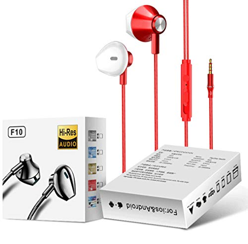 WangXL Hoofdtelefoon met microfoon, comfortabele balansbass, voor telefoon, Samsung, Android met 3,5 mm aansluiting, in-ear hoofdtelefoon en geluidsisolerende hoofdtelefoon