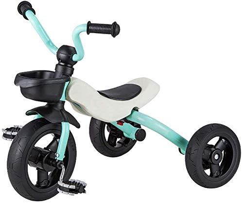 WLD Kinder-trainingsvoertuig, driewieler vouwen, voor babyfiets, kinderen, driewieler, jongens en meisjes, kinderwagen, one-click opvouwbaar, outdoor driewieler, beste cadeau voor kinderen groen