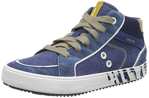 Geox Jungen J Alonisso Boy D Hohe Sneaker, Blau (Avio/Beige C4289), 34 EU