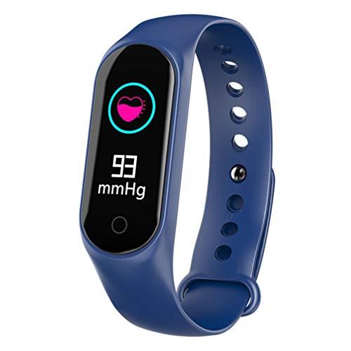 bansd Pulsera Inteligente Reloj Inteligente Impermeable M3S Reloj de Pulsera de frecuencia cardíaca Azul