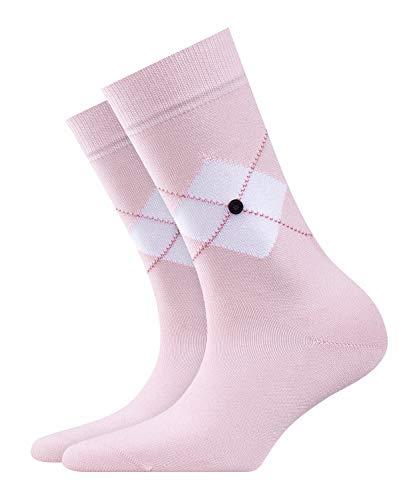 Burlington Black Argyle Damen Socken blossom (8440) 36-41 mit weicher Baumwolle