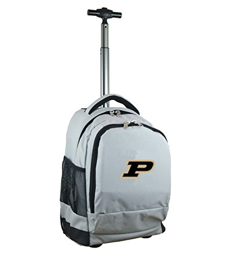 Denco NCAA Purdue Boilermakers Wheeled Backpack, 19-inches, Grey