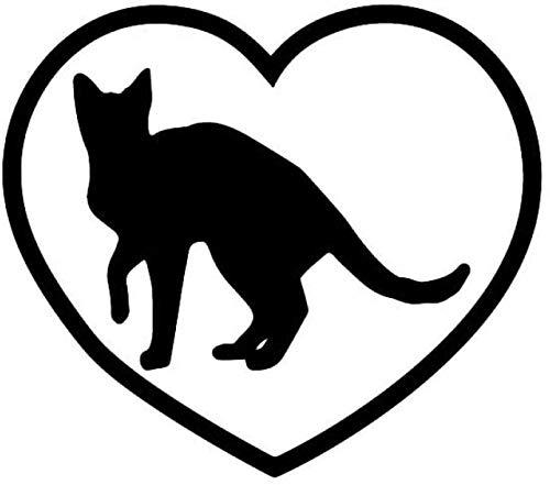 MOLDK Pegatinas de Coche 15X13.2Cm Etiqueta Engomada del Coche De Dibujos Animados Tabby Cat I Love Gatitos Vinilo Calcomanía Gato Animal Doméstico
