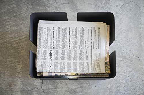山崎実業(Yamazaki)新聞ストッカーブラック約33X26X33.5cmtower4764