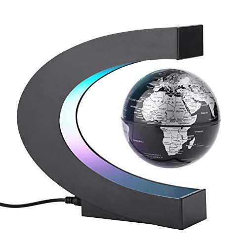 Magnet Globus, Magnetische Kugeln Globen LED Schwimmende Kugel World Karte C Form als Büro Schreibtisch Dekoration, Weihnachtsgeschenk Geburtstag Geschenke