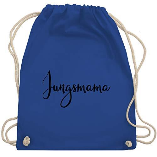 Shirtracer Muttertagsgeschenk - Jungsmama Schreibschrift - schwarz - Unisize - Royalblau - Spruch - WM110 - Turnbeutel und Stoffbeutel aus Baumwolle