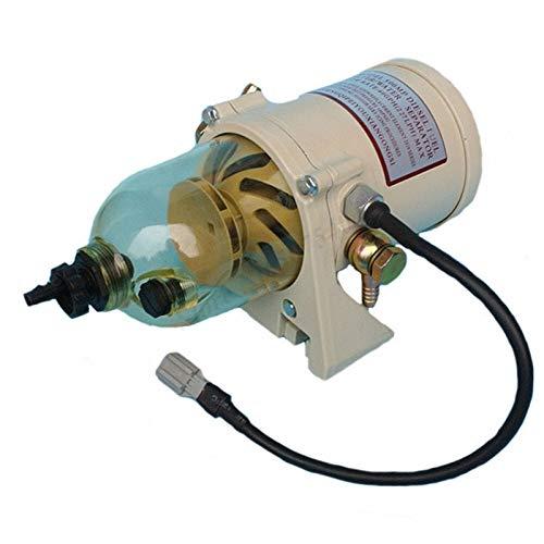 ZSR-haohai Montaje de 500FG con 12V / 24V Filtro de Combustible de Alambre de calefacción Camiones de Barco Marino 90GPH Separador de Agua de Combustible. (Color : 500FG with 24V Wire)