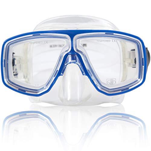 Body Glove Optical Professional Corrective Snorkeling Mask, Blue, Medium