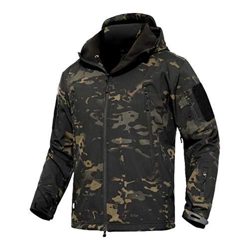 Armée Camouflage Veste Militaire Tactique Manteau d'hiver imperméables Soft Shell Shark Hunt Coupe-Vent Vêtements Black CP M