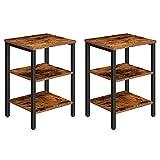 HOOBRO End Table, Set of 2 Nightstands with...
