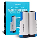 PRO SPIN Play Anywhere Portable Ping Pong Net – Retractable Table Tennis Net for Any Table Includes Convenient Storage Bag
