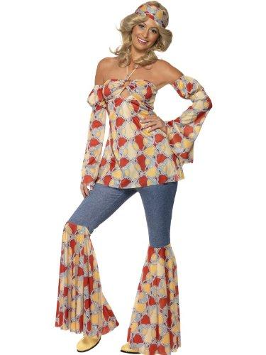 Femme Années 1970 Déguisement Vintage Hippie années 1970 déguisement UK Robe 12-14