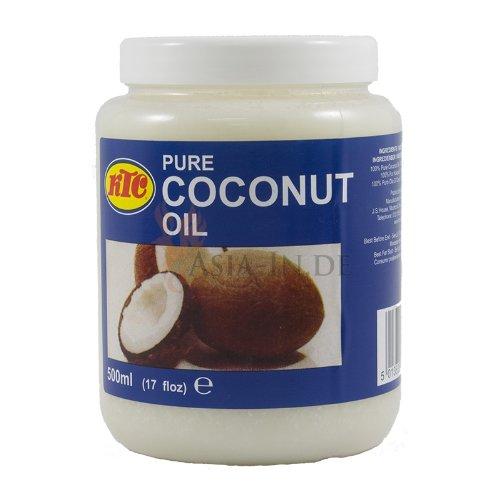 100% Pur Kokosöl [12 x 500ml] Cocosöl KTC Coconut Oil