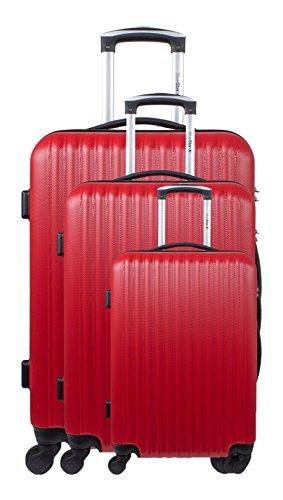 Blue Star - Juego de maletas Unisex, Juego de maletas, Rojo,