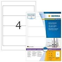 HERMA 4284ファイルラベルA4 192 x 61 mmホワイトペーパーマット不透明400個。