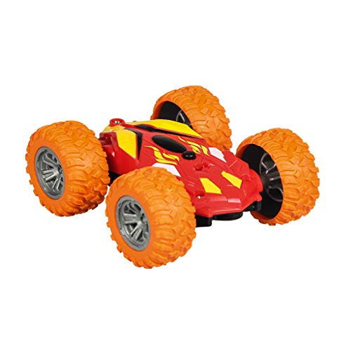 Sixcup® RC Cars RC Auto 4WD Offroad Rock Crawler 2,4 GHz Fernbedienung Fernsteuerung Fahrzeug 360 Degree Flips Double Sided Rotating Race Car Remote Controlled Car für Kinder (Orange)