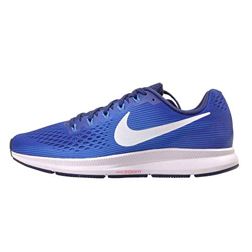 Nike Air Zoom Pegasus 34 Herren Running Trainers 880555 Sneakers Schuhe (UK 8 US 9 EU 42.5, Indigo Force White Photo Blue 413)