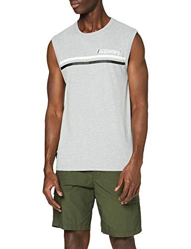 Superdry Core Logo Sport Stripe Vest Camiseta sin Mangas para Hombre