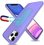 ESTPEAK Compatible with iPhone 12 pro max Magnetic Case 2020,[Invisible Built-in Metal Plate] Ultra Thin Support Magnetic Car Mount,Drop Protection Soft Shockproof Anti-Scratch Protective Phone Case