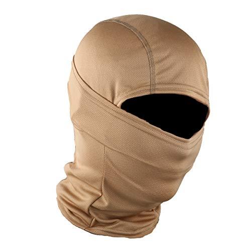 STARTAIKE Pasamontañas máscara facial protección UV capucha resistente al viento máscara táctica para esquí ciclismo pesca al aire libre caza camuflaje, Caqui, talla única