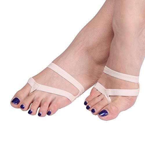 YCYEER Chaussettes De Danse De Ballet, Danse du Ventre Antidérapante Thong Toe Pad Talon Protecteur Femmes Chaussures De Danse du Ventre Accessoires (Color : Skin Tone, Size : S)