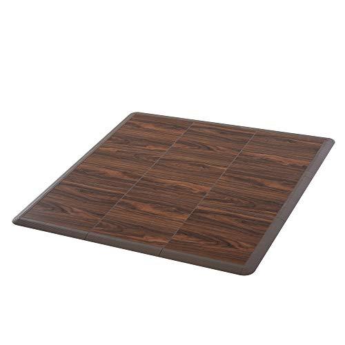 Soozier Portable Dance Floor Tiles, Tap Ballet Trade Show Flooring, PVC, 9 Piece Mats, 5' x 5'