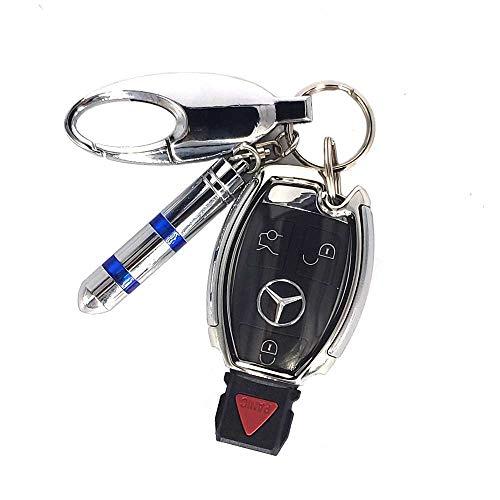 ベンツ キーケース シリコン TPUベンツ スマートキーケース ベンツ キーホルダー 静電気除去 ベンツ キーケースカバー Mercedes Benzスタイリッシュ A B C Eクラス CLA GLA GLC GLE 汚れ 滑り傷 防止 (シルバー)
