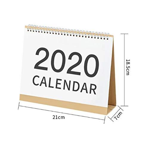 Wiivilik Tischkalender 2020 Standing Desktop Calendar Neujahr Desk Calendar Einfache Desk Coil Notepad Kalender Tagesablauf