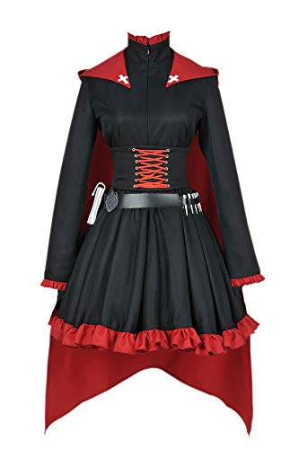 CosplayNow RWBY Ruby Rose Cosplay Costume Gothic Dress Red Custom Made