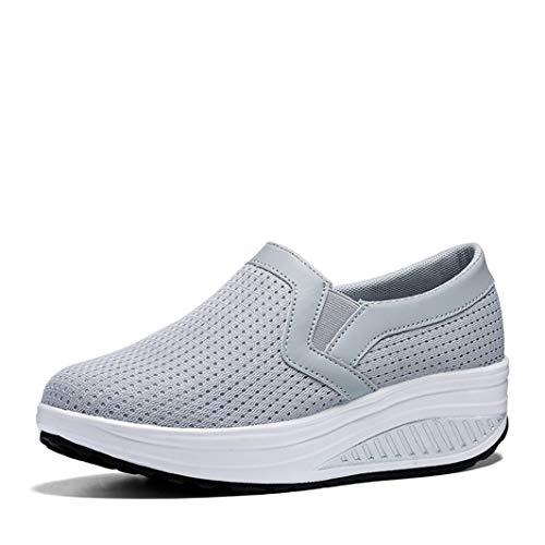 Vrouwen Wedges Schoenen Hoogte Toenemende Loafers Ademende Anti Slip Platform Casual Trainers