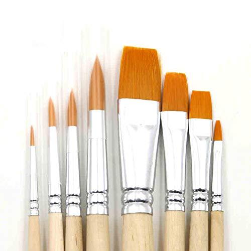 Pinsel Set Aquarellpinsel Nylon Haarbürste Set Aquarell Gouache Acrylöl Pinsel 8-8 Protokolle