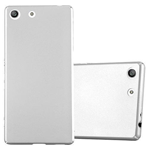 Cadorabo Hülle für Sony Xperia M5 in Metall Silber – Hardcase Handyhülle aus Plastik gegen Kratzer & Stöße – Schutzhülle Bumper Ultra Slim Back Hülle Hard Cover