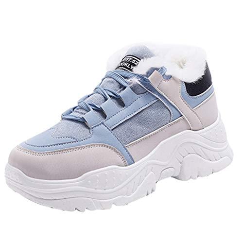LuckyGirls Chaussures d'hiver décontractées pour Femmes Chaussures d'hiver Chaudes Plate-Forme de Chaussures de Neige en Peluche Chaussures de Chaussures de Pied Chaussures