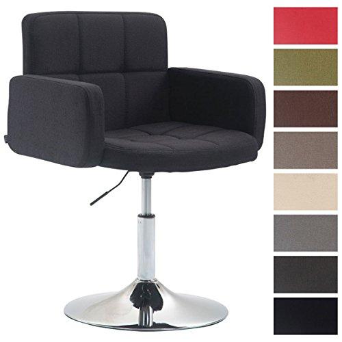 CLP Silla Lounge Los Angeles en Tela I Silla -Butaca Giratoria & Regulable en Altura I Taburete Silla Baja I Color: Negro