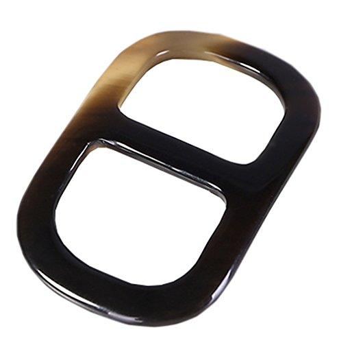 prettystern - anillo de la bufanda genuina cuerno de búfalo bufanda toalla anillo de los titulares...