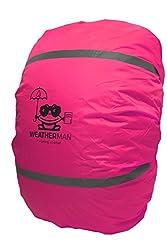 Weatherman wasserdichter Regenschutz für Schulranzen und Rucksack, Signalfarbe, mit Gummizug, Regenhülle, Sicherheitsüberzug, Sicherheitshülle, Schutzhülle, Regenschutzhülle (Pink)