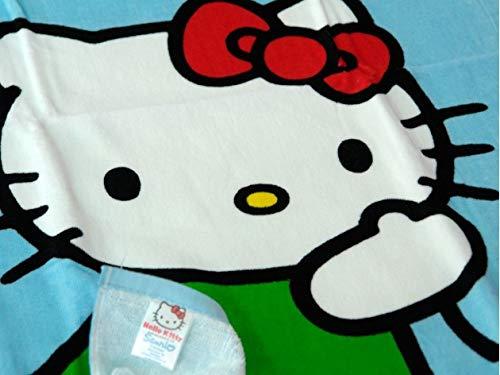 Ciberdescans Toalla de Playa o Piscina Infantil de Hello Kitty Globo algodón