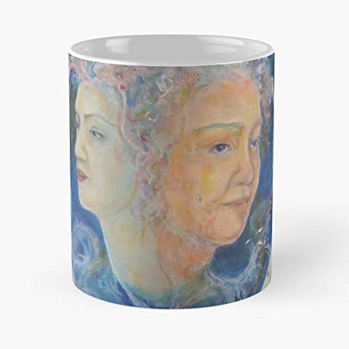 Girard Maureen Age Femenine Symbolic Earth Womens Nature Spirits Eat Food Bite John Best Taza de café de cerámica de 325 ml