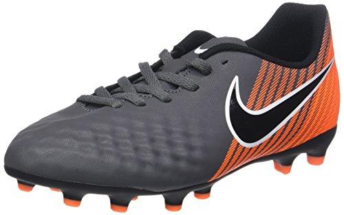 Nike Jr Obra 2 Club FG, Zapatillas de Fútbol Unisex Niños, Gris (Dark Grey/Black-Total Orange-White 080), 37.5 EU