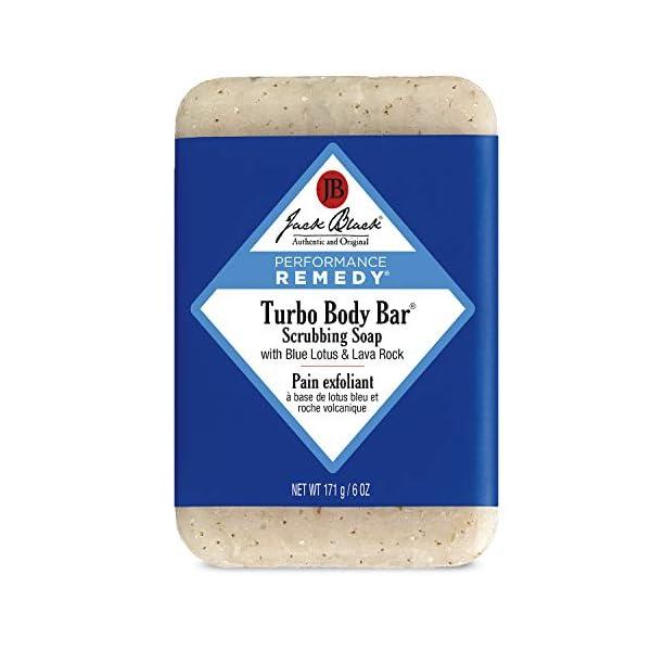 Jack Black - Turbo Body Bar Scrubbing Soap, 6 oz - Men's Soap with Blue Lotus and Lava Rock 1