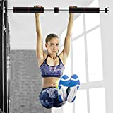 melupa Pull Up Bar Doorway Chin up Bar No Screw Installation Adjustable Width Locking Mechanism Exercise Fitness Workout Bar (23.6 to 39.3 Inches Adjustable Length)