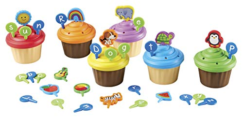 Learning Resources ABC Cupcake Party Toppers, Homeschool, Early Alphabet Learning, Sorting Cupcake Letters, Vocabulary Toy, Cupcakes, Ages 3+
