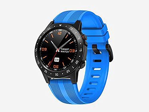 Reloj inteligente, de alta definición táctil, detección de salud, modo deportivo, control de música, compatible con Android e iOS (color: azul)