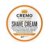 Cremo Lathering Shave Cream, Formulated for Use With a Brush to Fight Nicks, Cuts and Razor Burn, 4.5 Oz
