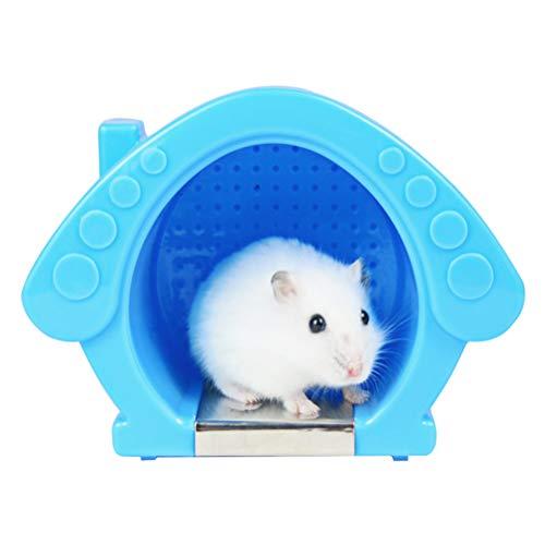 Hihey Hamster Koelruimte met koelkussen, zomer, koeling, antislip onderkant accessoires (afmetingen: 13,5 x 9 x 10,5 cm)