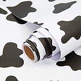 Papel Adhesivo para Muebles Puntos Negros 45cmX3m Papel Pintado Vinilo Pegatina para Muebles Cocina Impermeable Decorativa Autoadhesivo